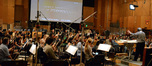 Conductor Nicholas Dodd and the Hollywood Studio Symphony record Andrew Lockington's score to <i>Percy Jackson: Sea of Monsters</i>