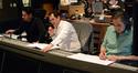 Director J.J. Abrams, composer Michael Giacchino, and scoring mixer Joel Iwataki