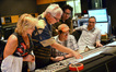Vocal contractor Bobbi Page, conductor Tim Simonec, director J.J. Abrams, composer Michael Giacchino, and scoring mixer Joel Iwataki discuss a cue