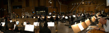 The Hollywood Studio Symphony records a cue to <i>White House Down</i>
