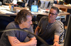 Additional music composer Buck Sanders and composer Marco Beltrami discuss a cue