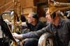 Trombone player Bill Reichenbach and tuba player Doug Tornquist