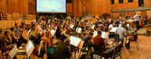 The Hollywood Studio Symphony prepares to record on <i>The Wolverine</i>