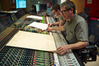 Composer John Powell at the mixing consol