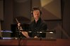 Composer Brian Tyler conducts with intensity
