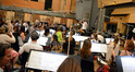 Nick Glennie-Smith conducts the orchestra on <i>Big Hero 6</i>