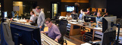 Lead orchestrator Stephen Coleman, composer Henry Jackman, scoring mixer Alan Meyerson, assistant music editor Daniel Waldman, music editor Dan Pinder, and ProTools recordist Kevin Globerman