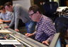 Lead orchestrator Stephen Coleman, composer Henry Jackman, and scoring mixer Alan Meyerson go over a cue