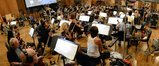 The orchestra prepares to record the next cue from <i>Big Hero 6</i>