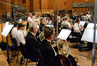 The brass, woodwinds, and basses