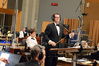Composer Michael Giacchino introduces his son, additional cue composer Griffith Giacchino, to the orchestra