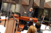 Composer and conductor Timothy Williams records music for the <i>The Wizarding World of Harry Potter</i> theme park attraction at Warner Bros.
