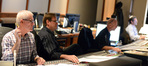 Universal Studios Japan Senior VP of Entertainment Mike Davis,  score co-producer Bob Wackerman, scoring mixer and co-producer Paul Freeman, and stage recordist Tom Hardisty