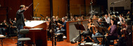 The orchestra records under the baton of composer Timothy Williams