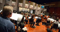The orchestra is ready for composer Christopher Lennertz's downbeat