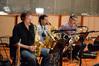 Dan Higgins wails on the alto saxophone