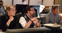Orchestrator Andrew Kinney, composer Christopher Lennertz, and scoring mixer Jeff Vaughn