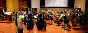 The orchestra performs a cue from <i>Horrible Bosses 2</i> under the baton of composer Christopher Lennertz