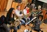 The French horns: Danielle Ondarza, Phil Yao, Justin Hageman, Jenny Kim, Dan Kelley, and Steve Becknell