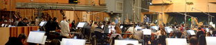 Conductor Pete Anthony and the orchestra
