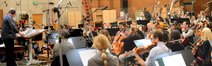 Conductor Pete Anthony and the orchestra record a cue from <i>The Maze Runner</i>