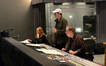 Booth reader Margaret Batjer, director Seth MacFarlane and composer/conductor Joel McNeely