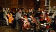 The bass section: (front) Mike Valerio, Chris Kollgaard, Bruce Morgenthaler, Nico Abondolo (principal); (rear) Peter Lloyd, Ed Meares, Drew Dembowski, and Oscar Hidalgo