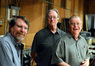 Percussionists Greg Goodall, Alan Estes, and Don Williams