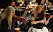 Violinists Natalie Leggett and Katie Popov