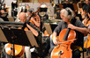 Cellist Kim Scholes and principal cello Andrew Shulman