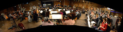 A 98-piece orchestra records Joel McNeely's score to <i>A Million Ways To Die In The West</i>