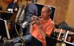 Jon Lewis solos on the trumpet