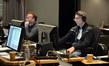 Music editor Matt Shelton and ProTools recordist Vinnie Cirilli