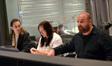 Orchestrators Jeremy Borum and Penka Kouneva with composer Nathan Furst