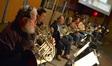 The French horns: Steve Durnin, Dylan Hart, John Mason, _____, Mark Adams, Steve Becknell, Daniel Kelley, and Jim Thatcher