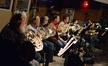 The French horns: Steve Durnin, John Mason, _____, Mark Adams, Steve Becknell, Daniel Kelley, and Jim Thatcher