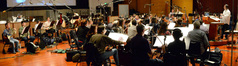 Composer and conductor Christopher Lennertz and the orchestra perform