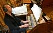Pianist Randy Kerber plays the harpsichord