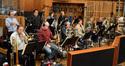 The brass: trumpets Dan Fornero, Rick Baptist, Harry Kim, & Jon Lewis; trombones Alan Kaplan, Alex Iles, Bill Booth, Steve Holtman and Phil Keen, tuba Doug Tornquist