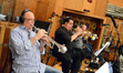 The trumpets: Dan Fornero, Rick Baptist, Harry Kim, and Jon Lewis