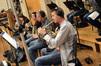 The French horns: Jenny Kim, Dan Kelley, Mark Adams, and Steve Becknell