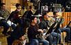 The French horns: Dylan Hart, Ben Jaber, Laura Brenes, Jenny Kim, Dan Kelley, Mark Adams, and Steve Becknell