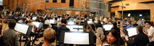 Conductor Jeffrey Schindler and the Hollywood Studio Symphony perform on <i>X-Men: Days of Future Past</i>