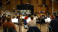 The orchestra records a cue for <i>Agent Carter</i> with composer and conductor Chris Lennertz