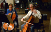 Cellist Dennis Karmazyn and orchestra contractor David Low