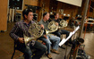 The French horns: Dylan Hart, Mark Adams, and Steve Becknell