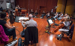 Composer/conductor Sherri Chung conducts the strings on <em>Blindspot</em>