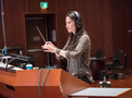 Composer Sherri Chung conducts the orchestra