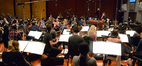 Composer Brian Tyler and the orchestra