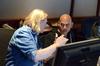 Supervising music editor Paul Rabjohns and music editor Joe Lisanti